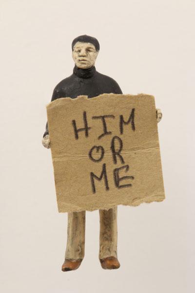 "Artwork ""Him or Me"" by artist Thomas Doyle"