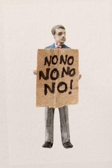 """Artwork """"No No No No No"""" by artist Thomas Doyle"""