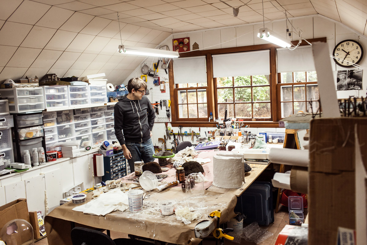 Thomas Doyle in his studio. Photo by Torsten Roman.
