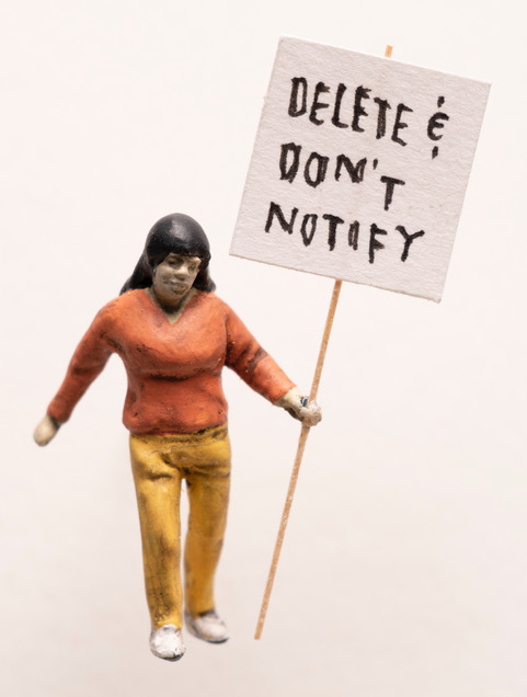"""Artwork """"Delete and Don't Notify"""" by artist Thomas Doyle"""