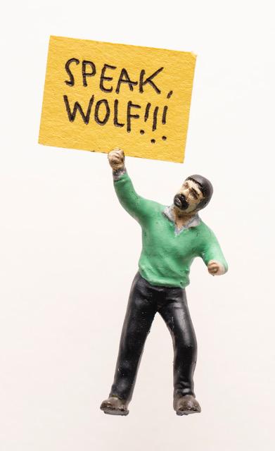"Artwork ""Speak, Wolf!!!"" by artist Thomas Doyle"