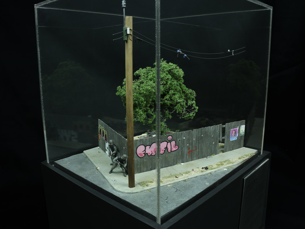 """Model by Thomas Doyle depicting """"Operation Chinup"""" commissioned by the American Arkology Society"""