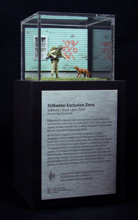 Model by Thomas Doyle depicting The Stillwater Exclusion Zone; commissioned by the American Arkology Society